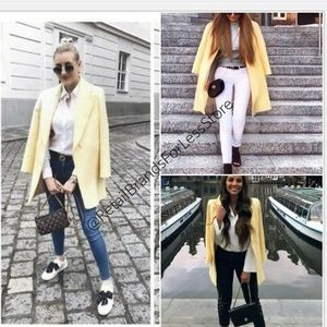 ZARA YELLOW STRAIGHT CUT FROCK BLAZER/JACKET COAT
